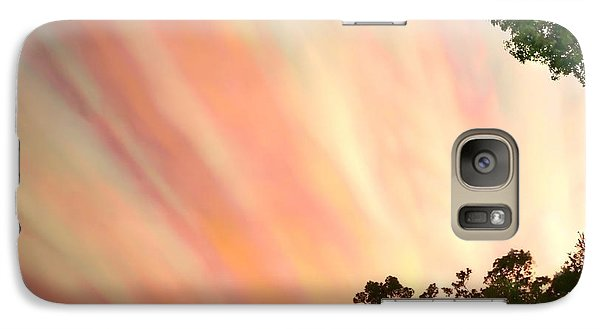 Galaxy Case featuring the photograph Cloud Streams by Charlotte Schafer