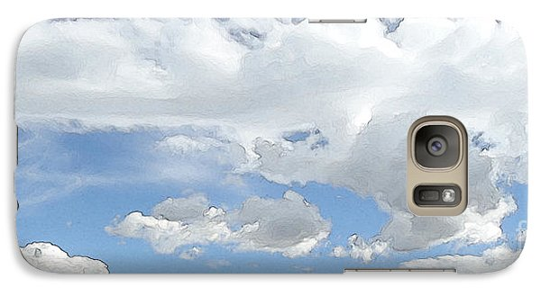Galaxy Case featuring the photograph Cloud Topography Blue by Ann Johndro-Collins