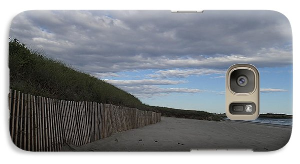 Galaxy Case featuring the photograph Clouded Beach by Robert Nickologianis
