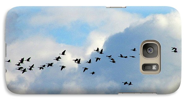 Galaxy Case featuring the photograph Clouds And Migration by Kimberly Mackowski