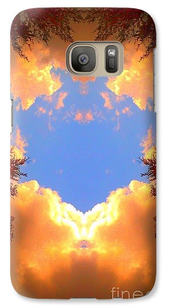 Galaxy Case featuring the photograph Clouds Of Gold by Karen Newell