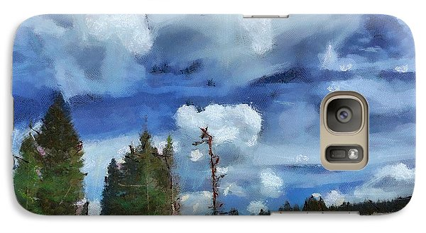 Galaxy Case featuring the digital art Clouds Of Joy by Carrie OBrien Sibley