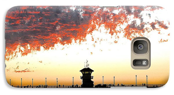 Galaxy Case featuring the photograph Clouds On Fire by Margie Amberge
