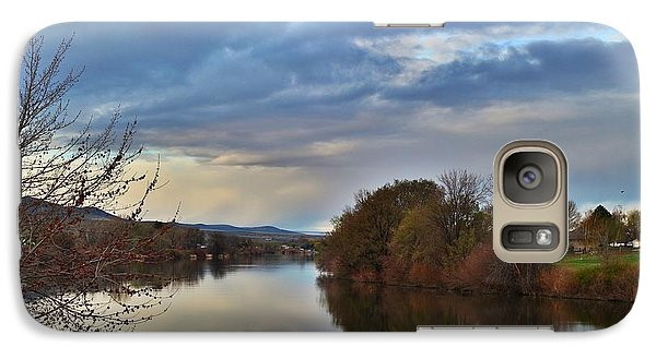 Galaxy Case featuring the photograph Clouds On The River 2 by Lynn Hopwood