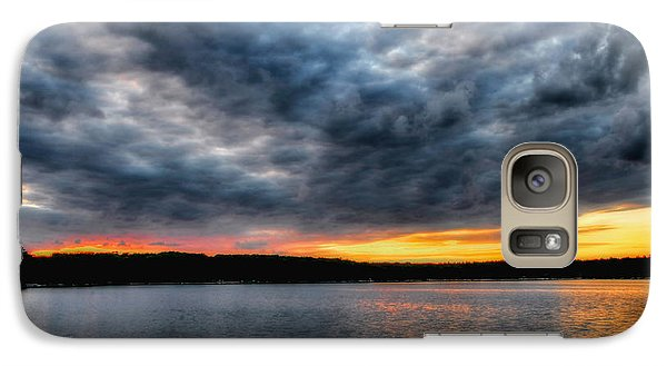 Galaxy Case featuring the photograph Clouds Over Big Twin Lake by Trey Foerster