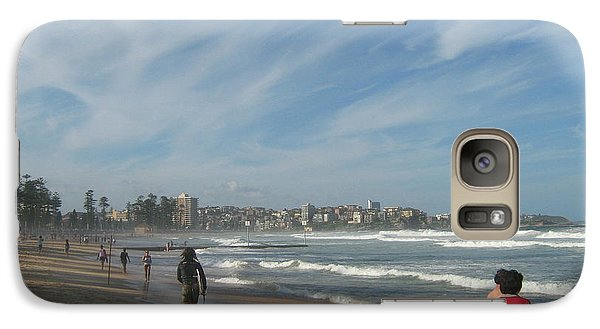 Galaxy Case featuring the photograph Clouds Over Manly Beach by Leanne Seymour