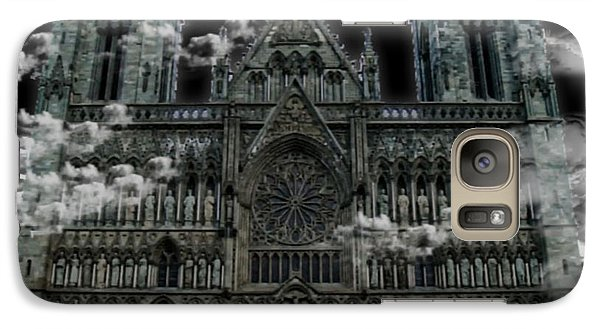Galaxy Case featuring the photograph Cloudy Cathedral by Digital Art Cafe
