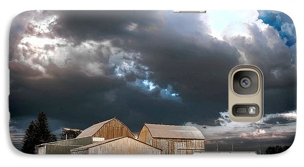 Galaxy Case featuring the photograph Cloudy Sky by Michaela Preston