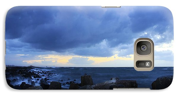 Galaxy Case featuring the photograph Cloudy Sky Over Sea by Mohamed Elkhamisy