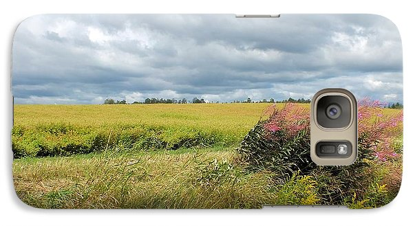 Galaxy Case featuring the photograph Cloudy Summer Field by Gene Cyr