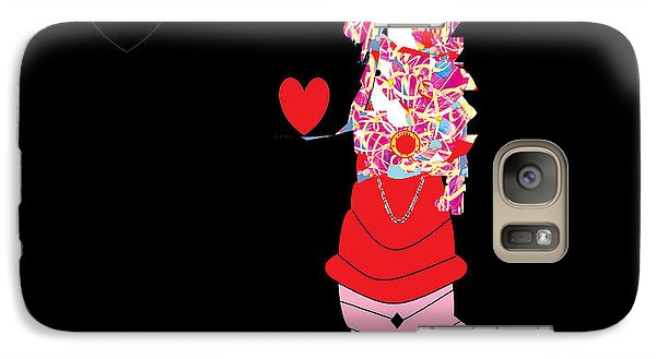 Galaxy Case featuring the digital art Clown Love by Ann Calvo