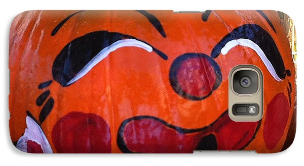 Galaxy Case featuring the photograph Clown Pumpkin by Denyse Duhaime