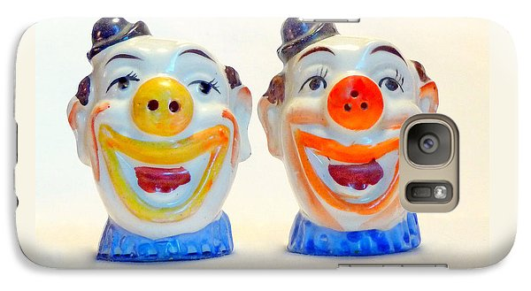 Galaxy Case featuring the photograph Vintage Clown Salt And Pepper Shakers by Jim Whalen