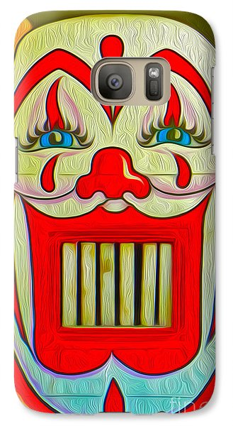 Galaxy Case featuring the painting Clown Teeth by Gregory Dyer