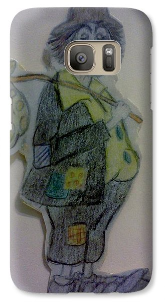 Galaxy Case featuring the drawing Clown With A Bag by Christy Saunders Church