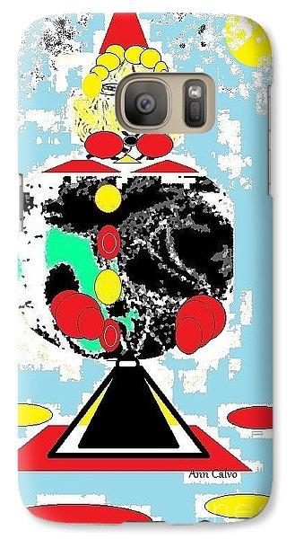 Galaxy Case featuring the digital art Clowning Around by Ann Calvo