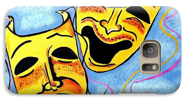 Galaxy Case featuring the painting Comedy And Tragedy by Nora Shepley