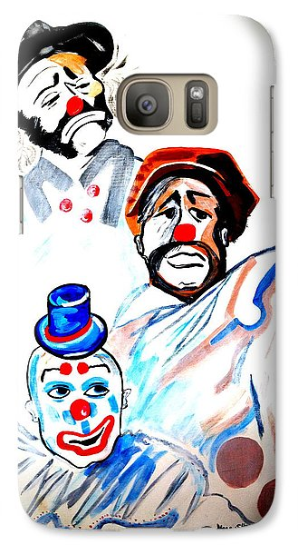 Galaxy Case featuring the painting Clowns In Heaven by Nora Shepley