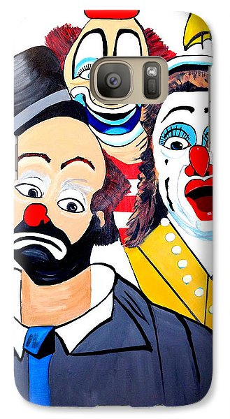 Galaxy Case featuring the painting Clowns In Shock by Nora Shepley