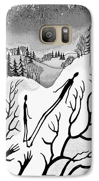 Galaxy Case featuring the digital art Clutching Shadows by Carol Jacobs