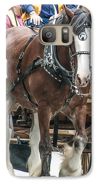 Galaxy Case featuring the photograph Clydesdale On Parade  by Dawn Romine