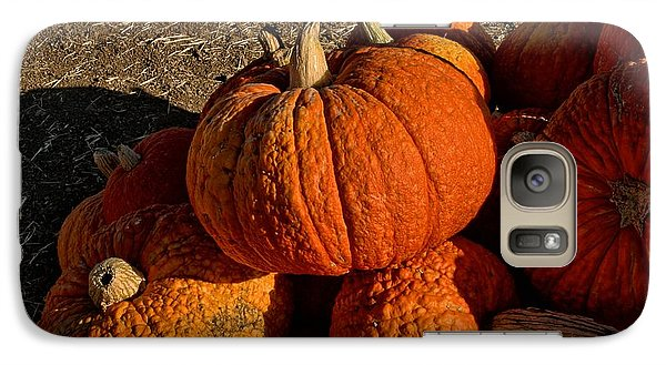 Galaxy Case featuring the photograph Knarly Pumpkin by Michael Gordon