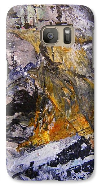 Galaxy Case featuring the painting Coal 2 by Nancy Kane Chapman