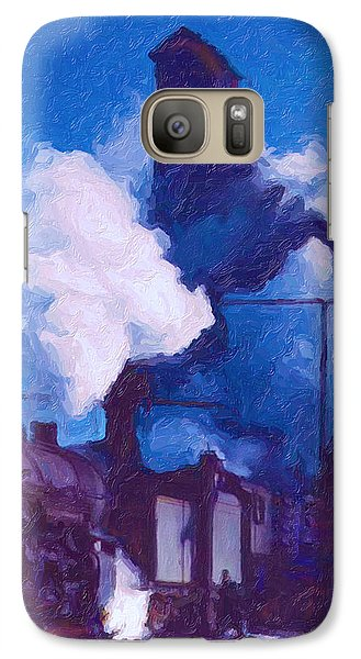 Galaxy Case featuring the digital art Coal And Water Station by Chuck Mountain