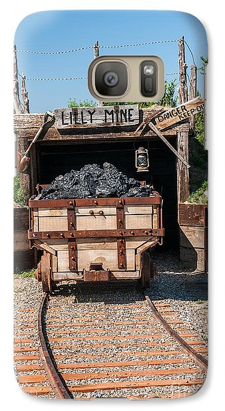 Galaxy Case featuring the photograph Coal Cart Leaving The Mine by Sue Smith