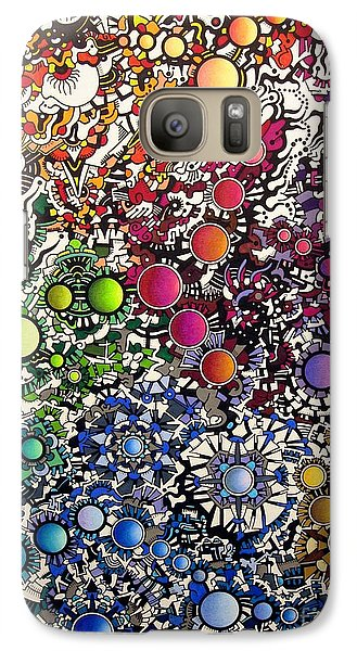 Galaxy Case featuring the drawing Coalescence by Devin  Cogger