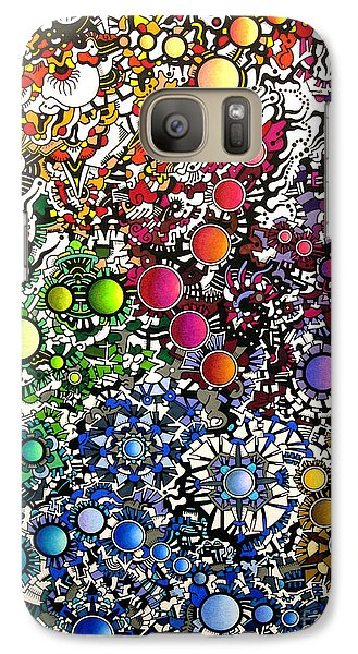 Galaxy Case featuring the drawing Coalescence Version 2 by Devin  Cogger