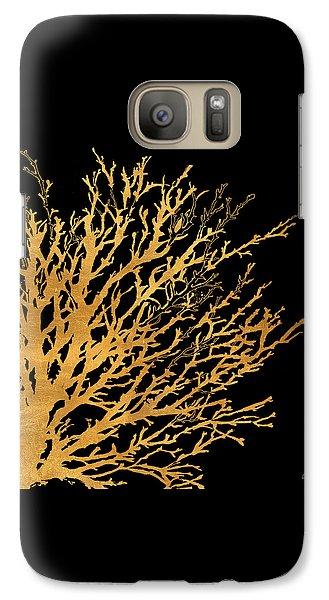 Coastal Coral On Black II Galaxy Case by Lanie Loreth