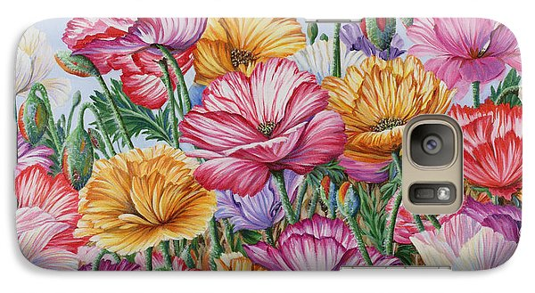 Galaxy Case featuring the painting Coastal Poppies by Jane Girardot