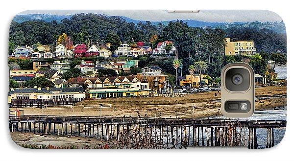 Galaxy Case featuring the photograph California Coastal Town by Kathy Churchman