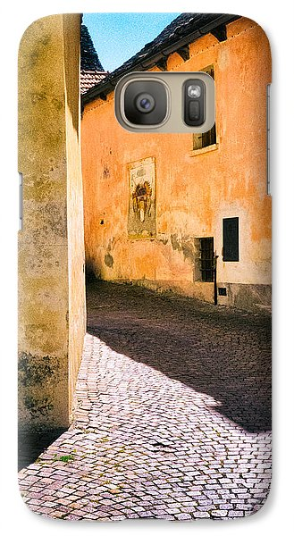 Galaxy Case featuring the photograph Cobbled Street by Silvia Ganora