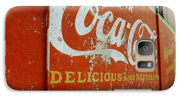 Galaxy Case featuring the photograph Coca-cola On The Army Store Wall by Kathy Barney