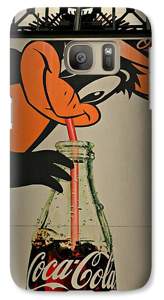 Coca Cola Orioles Sign Galaxy S7 Case by Stephen Stookey