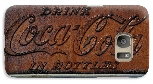 Galaxy Case featuring the photograph Coca-cola Sign by Andy Crawford