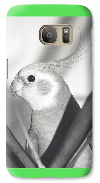 Galaxy Case featuring the photograph Cockatiel In Palm by Belinda Lee