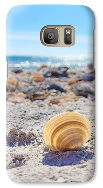 Galaxy Case featuring the photograph Cockle Shell Summer At Sanibel by Peta Thames
