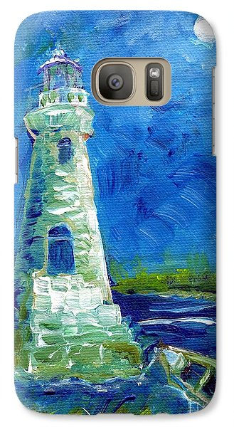 Galaxy Case featuring the painting Cockspur Lighthouse Mini #7 by Doris Blessington