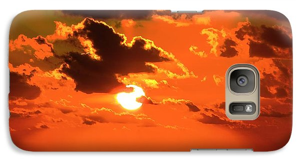 Galaxy Case featuring the photograph Coco Cay Sunset by Jennifer Wheatley Wolf