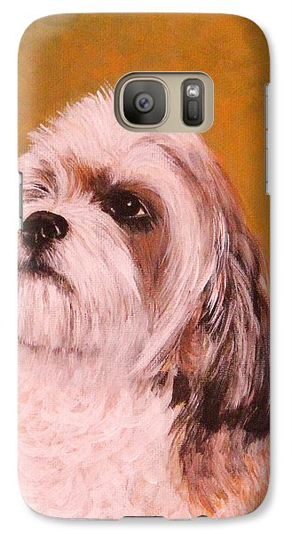 Galaxy Case featuring the painting Coco-puffs by Janet Greer Sammons