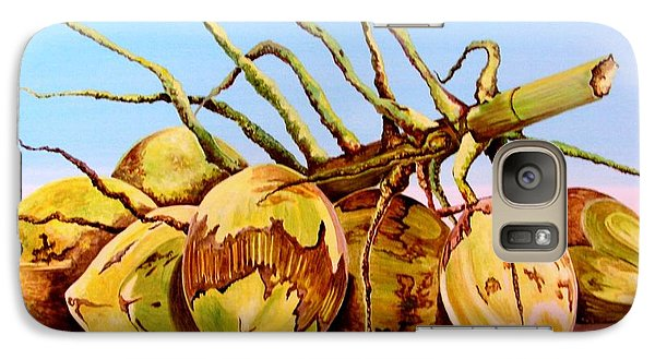 Galaxy Case featuring the painting Coconut Beach by Julie  Hoyle