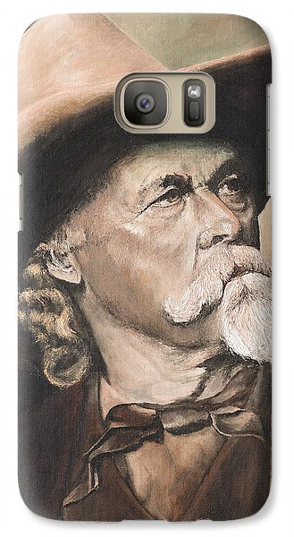 Galaxy Case featuring the painting Cody - Western Gentleman by Mary Ellen Anderson