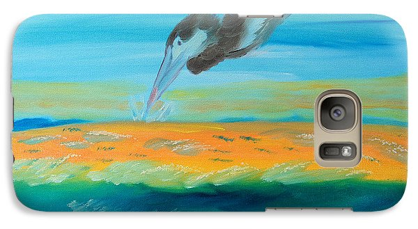 Galaxy Case featuring the painting Coexisting by Meryl Goudey