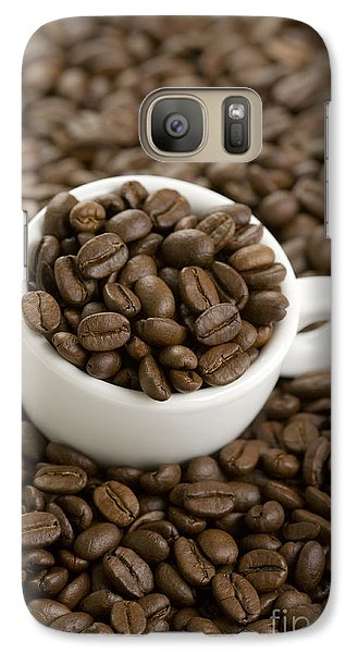 Galaxy Case featuring the photograph Coffe Beans And Coffee Cup by Lee Avison