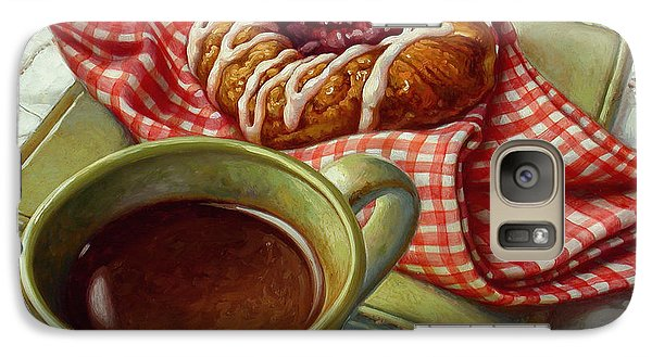 Galaxy Case featuring the painting Coffee And Danish by Mia Tavonatti