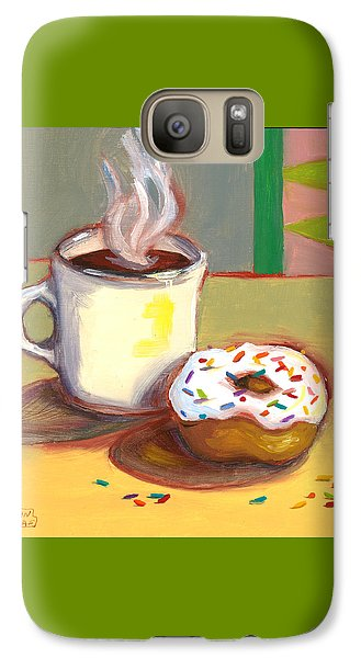 Galaxy Case featuring the painting Coffee And Donut by Susan Thomas