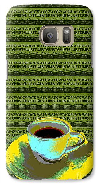 Galaxy Case featuring the digital art Coffee Cup Pop Art by Jean luc Comperat